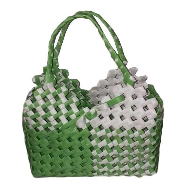 کیف حصیربافی سبز